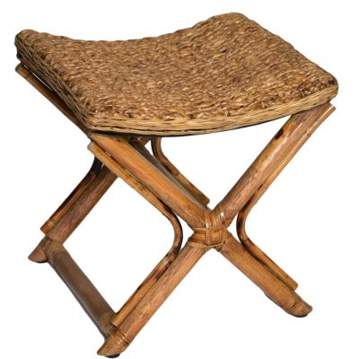 18/9049 Water Hyacinth Footstool