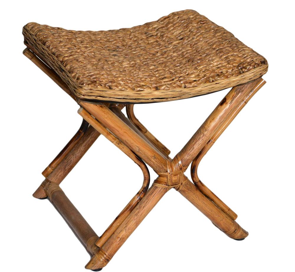 18/9049 Water Hyacinth Footstool