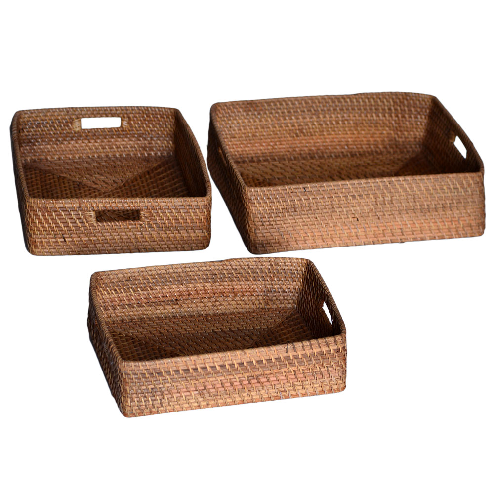 26/002 Set of 3 Rectangular Trays