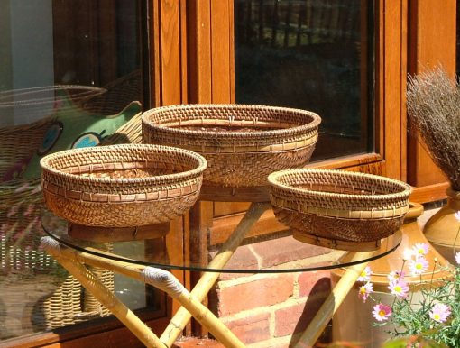 26/600 Oval Bamboo Rice Bowls Display