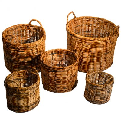 02/591 Set of 5 Planters in Red Kubu