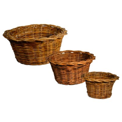 03887 Set of 3 Fluted Bowls