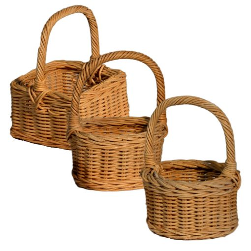 05/036-038-048 Round, Square, Oval Posy Baskets