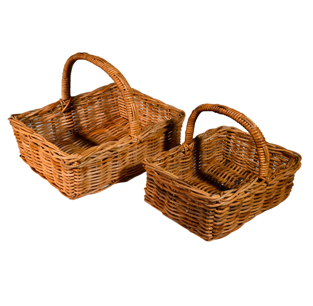 05/077 Set of 2 Oblong Shopping Baskets