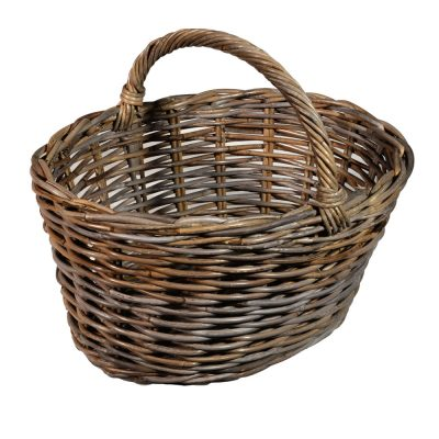 05/106 Oval Grey Shopping Basket