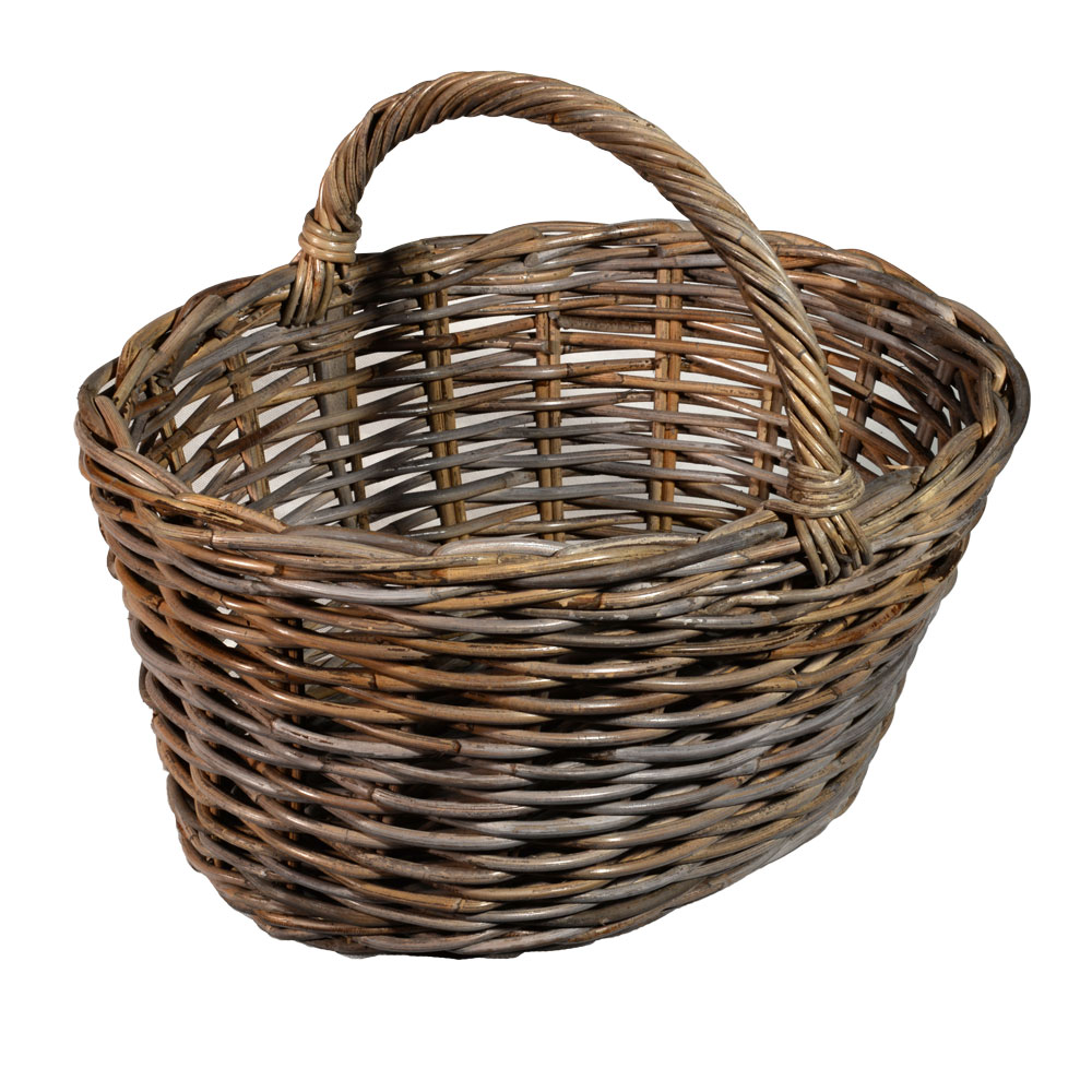 05/106 Oval Grey Shopping Basket