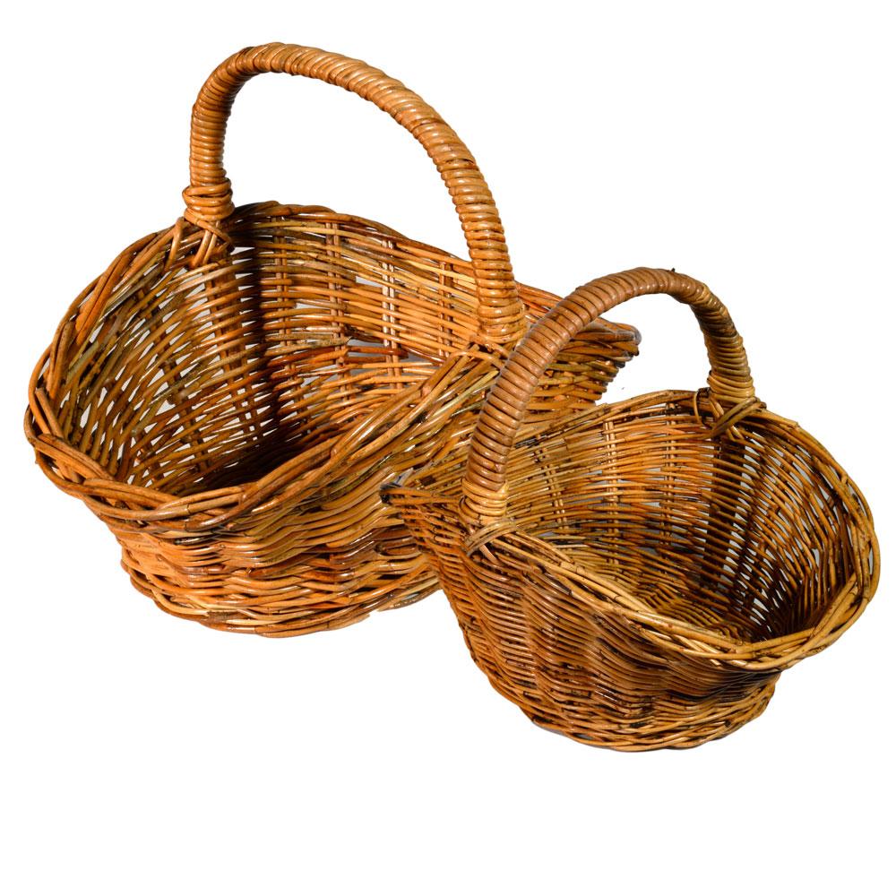 05/111 Set of 2 Shaped Oval Shopping Baskets