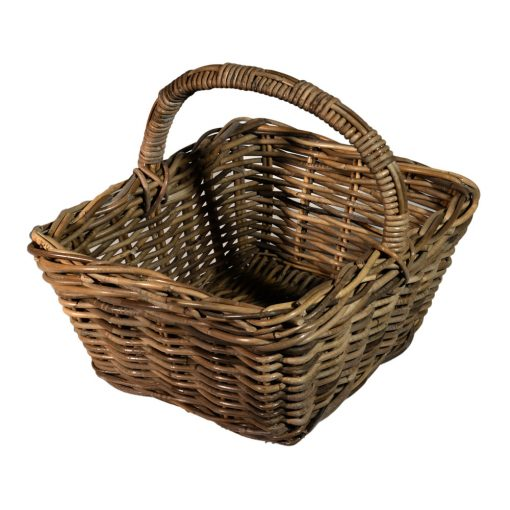 05/1240G Oblong Grey Shopping Basket