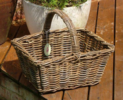 05/1240G Oblong Grey Shopping Basket Display