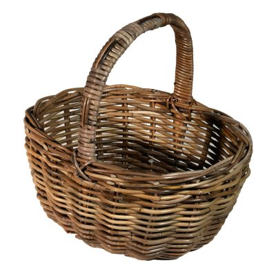 05/136G Oval Grey Shopping Basket