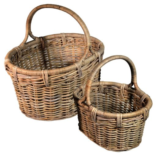 05/549 Set of 2 Large Oval Shopping Baskets