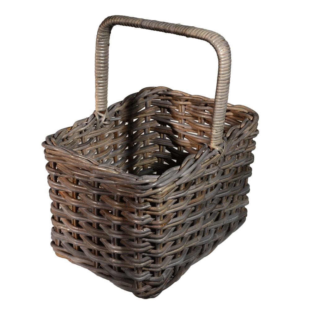 05/863 Oblong Greywash Shopping Basket