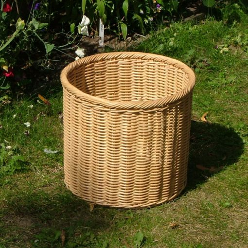 08/043 Round Rattancore Wastepaper Basket Display