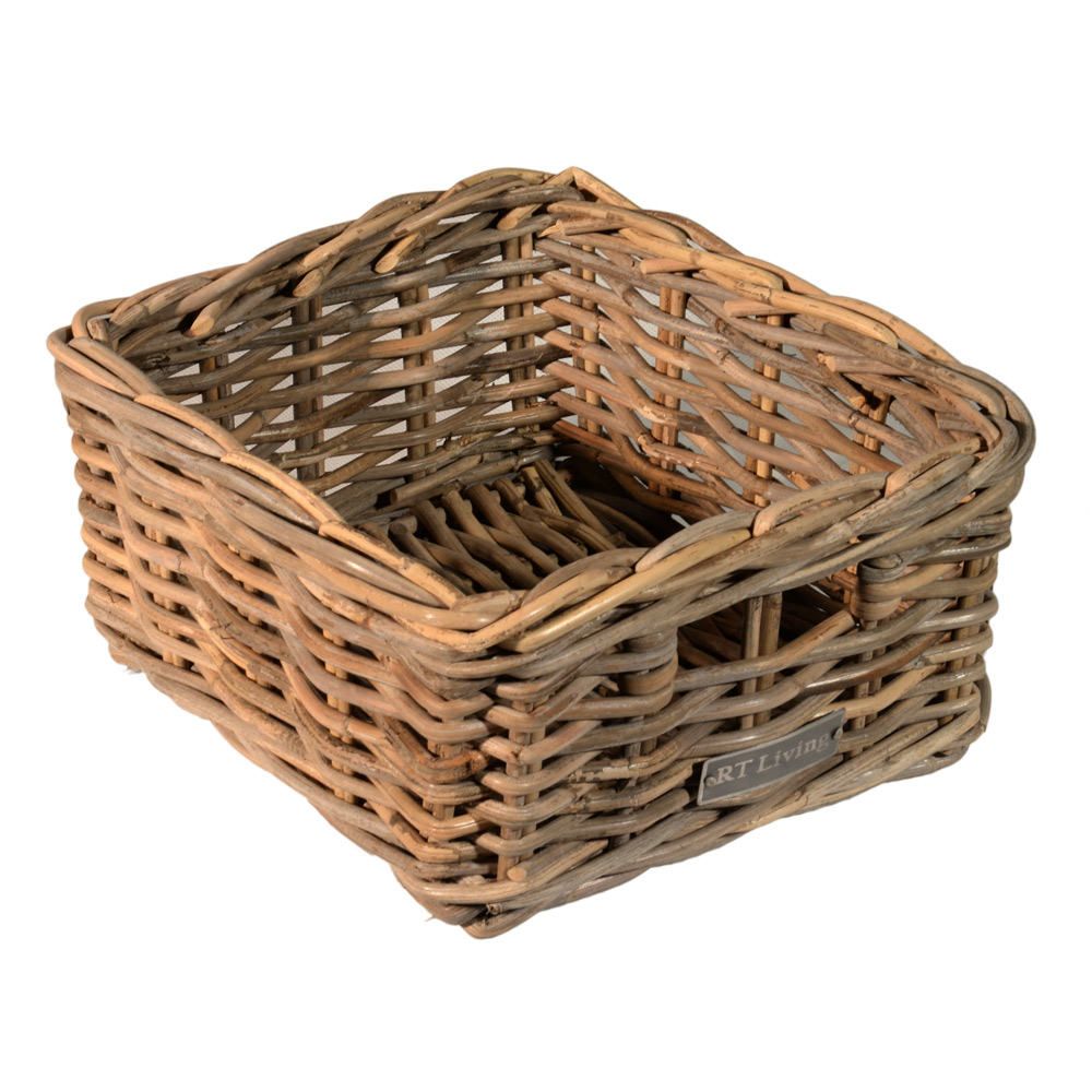10/002 Small Oblong Grey Storage Basket