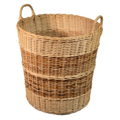 10/005R Rattancore Log Basket with Rattan Peel