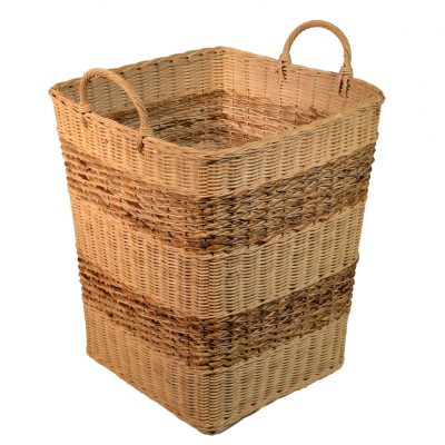 10/006B Square Rattancore Storage Basket with Banana Leaf