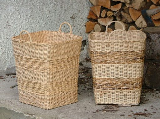 10/006R-10/006B Square Rattancore Log/Storage Baskets Display
