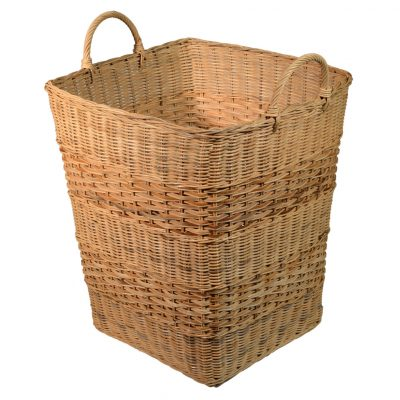 10/006R Square Rattancore Storage Basket with Rattan Peel