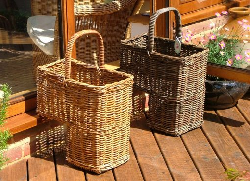10/1091 Natural and Grey Stair Baskets Display