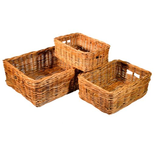 10/114 Set of 3 Oblong Storage Baskets