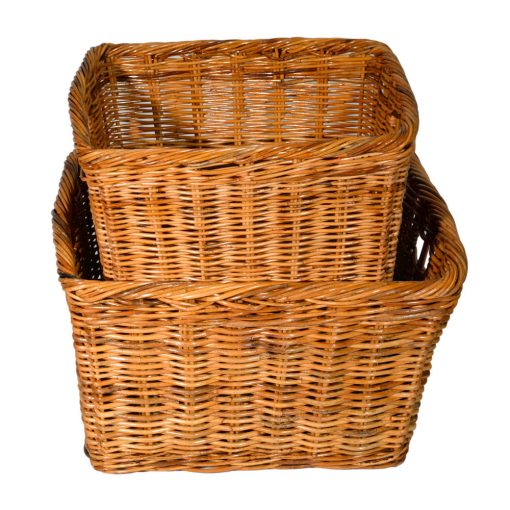 10/117 Set of 2 Oblong Log Baskets