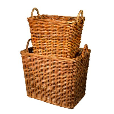 10/1781L Set of 2 Large Jahab Log Baskets