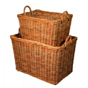 10/1781S Set of 2 Small Jahab Log Baskets