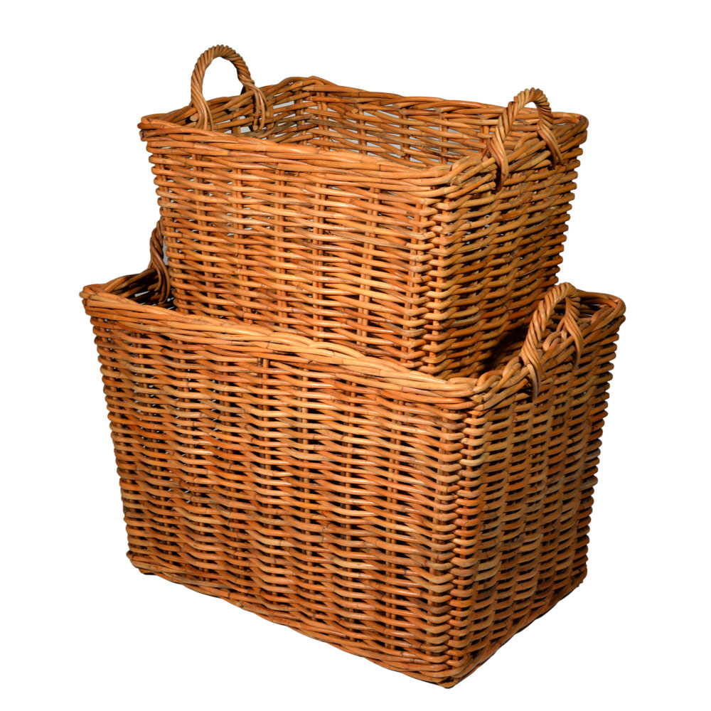 10/1781S Set of 2 Small Jahab Log Baskets
