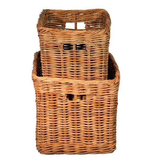 10/180S Set of 2 Square Log/Storage Baskets