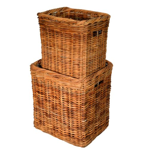 10/190 Set of 2 Tall Oblong Log Basket