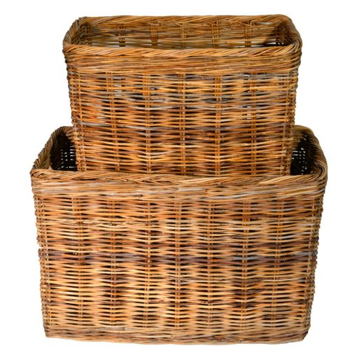 10/191 Set of 2 Large Tall Oblong Log Baskets