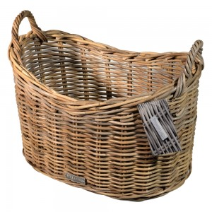 10/7004 Scoop Top Grey Storage Basket