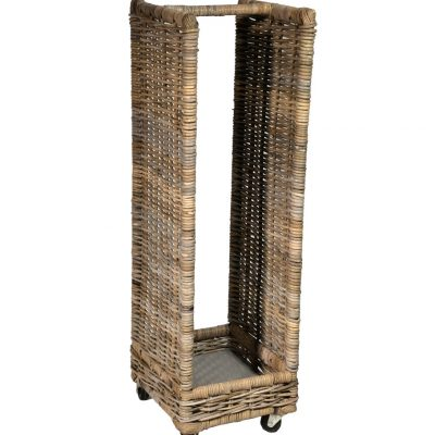 10/7006 Small Narrow Log/Storage Basket with Wheels