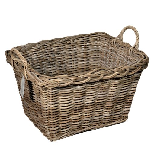 10/8005 Oblong Grey Log/Storage Baskets