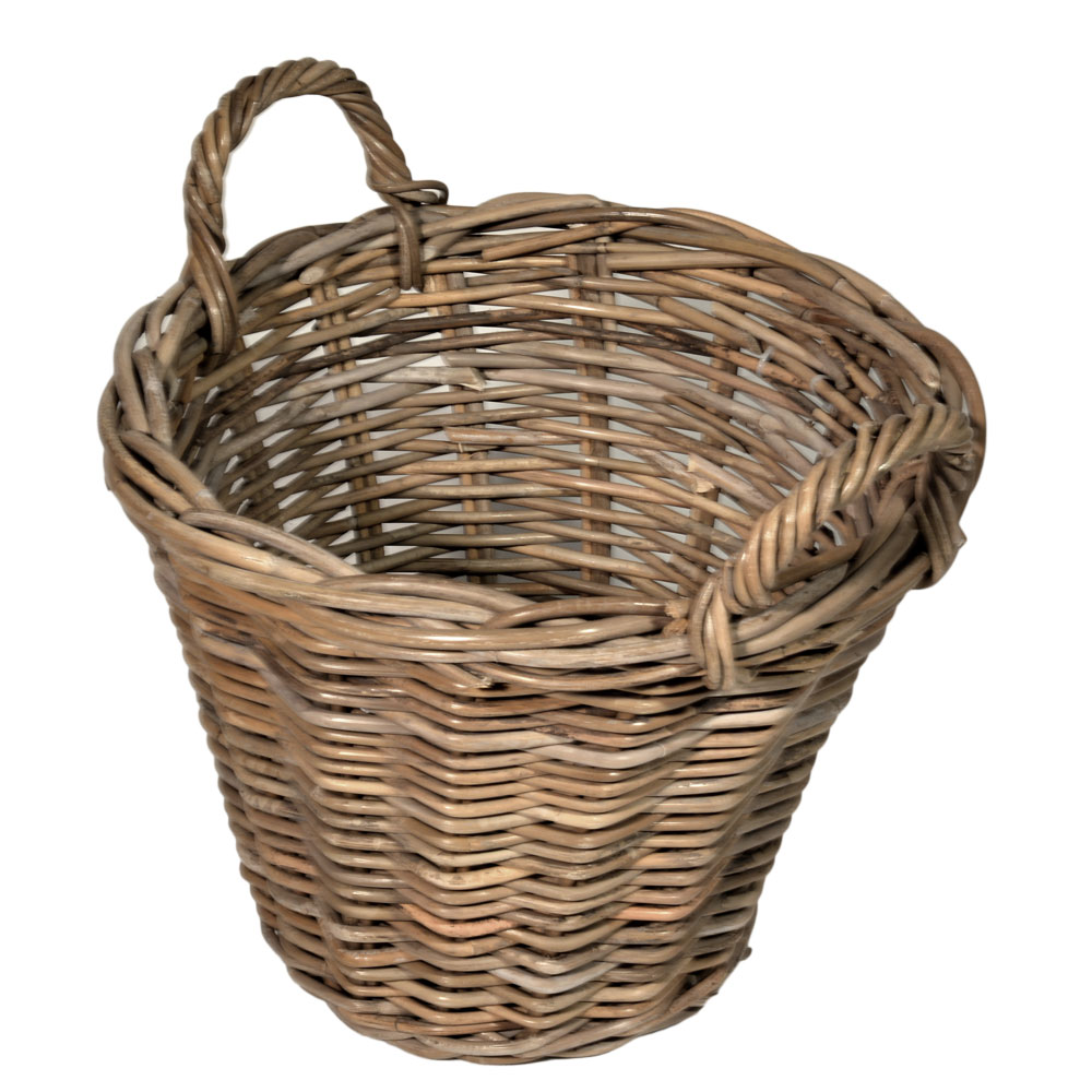 10/8006 Round Grey Kindling Basket