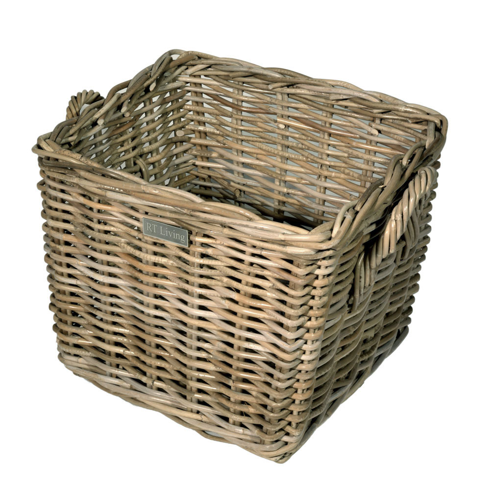 10/8008 Square Grey Kindling Basket