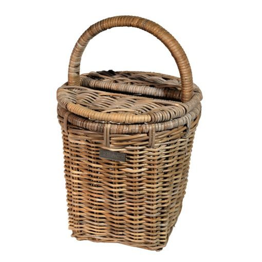 10/8013 Round Grey Picnic Basket