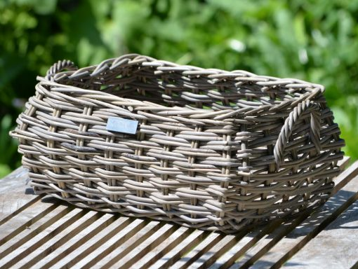 10/8025-Oblong Shaped Grey Storage Basket