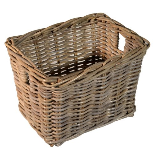 10/864 Oblong Greywash Storage Basket