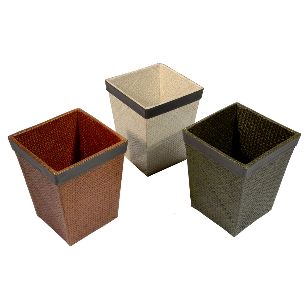 26/306 Square Palm Waste Paper Basket