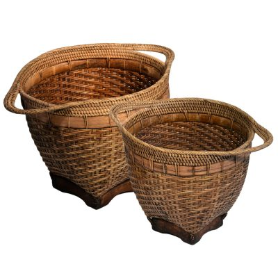 26/603 Set of 2 Bamboo Pot Holders