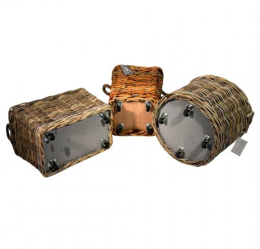 Wheeled Log Baskets
