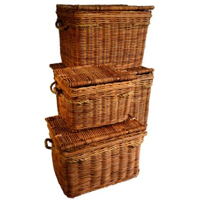 13/1107-4 Set of 4 Lacak Rattan Chests
