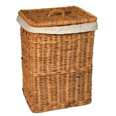 13/494 Oblong Laundry Basket with Calico Liner