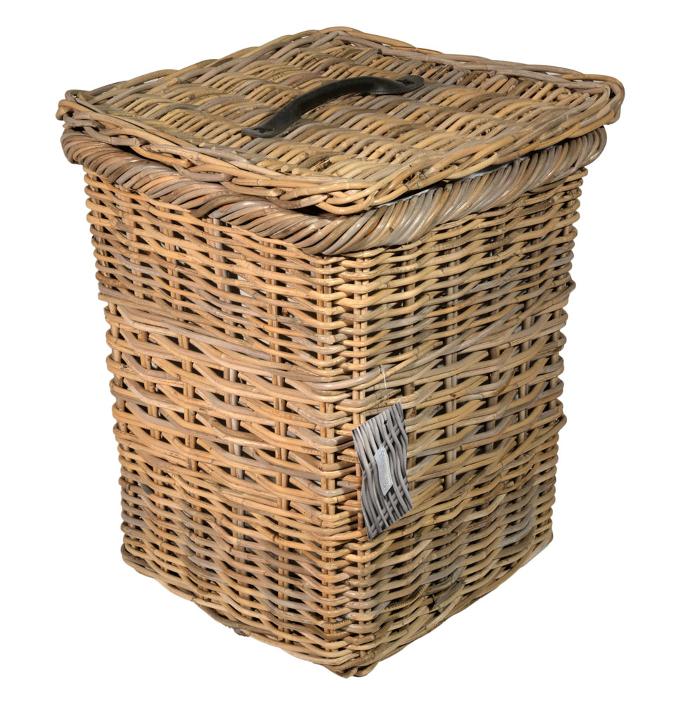 13/7020 Square Grey Lined Laundry Basket