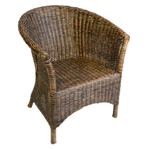 16/007 Jolene Blackwash Rattan Chair