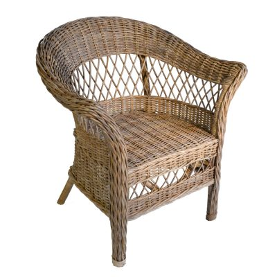 16/494 Greywash Rattan Chair