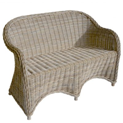 16/7006 Grey Rattan 2 Seater Sofa