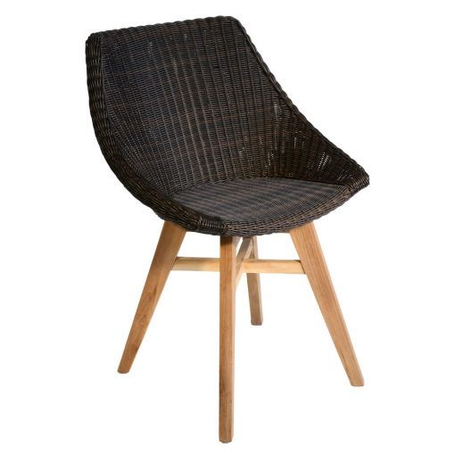 16/7054 Obi All Weather Dining Chair with Teak Legs