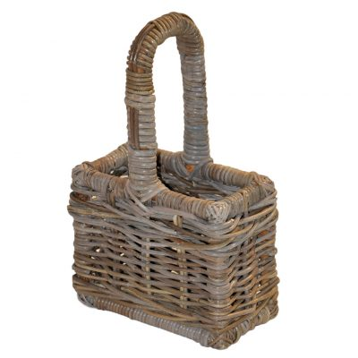 05/118G Grey Rattan 2 Bottle Carrier